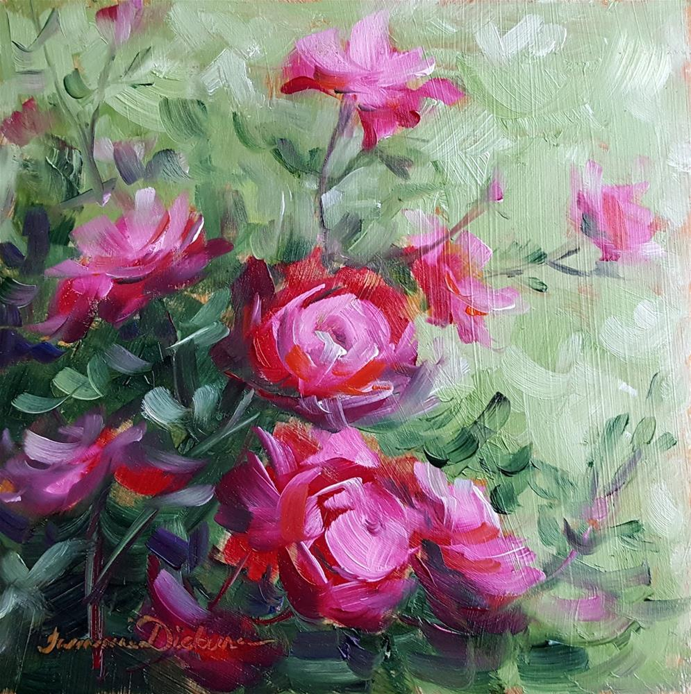 """Roses in the Rain"" original fine art by Tammie Dickerson"