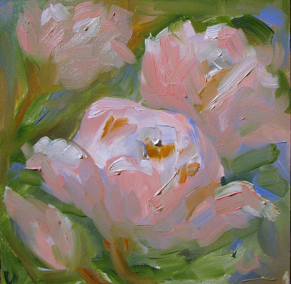 """Lady Grantham's Roses"" original fine art by Susan Elizabeth Jones"