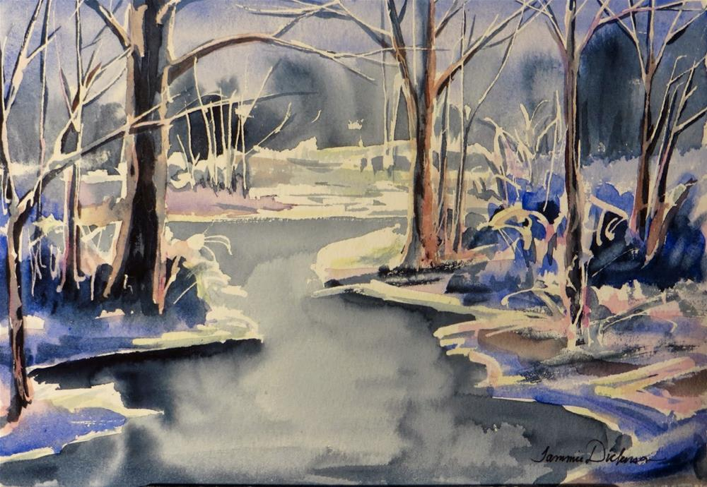 """Winter Wonder"" original fine art by Tammie Dickerson"