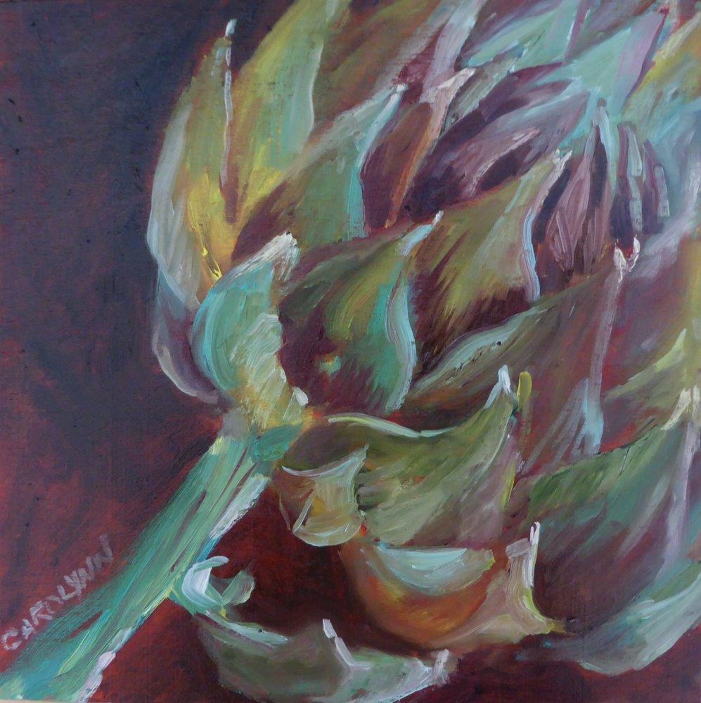 """""""Exploring the Artichoke II"""" original fine art by Carolynn Doan"""