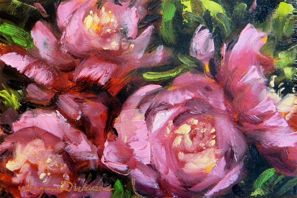 """Palette Knife Peonies"" original fine art by Tammie Dickerson"