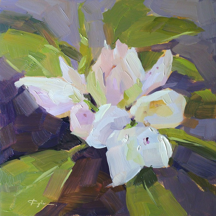 """White Rhododendron"" original fine art by Katia Kyte"