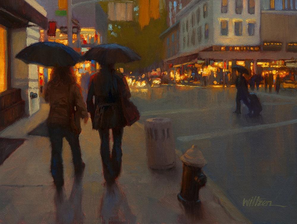 """""""Night on the Town"""" original fine art by Liz Wiltzen"""