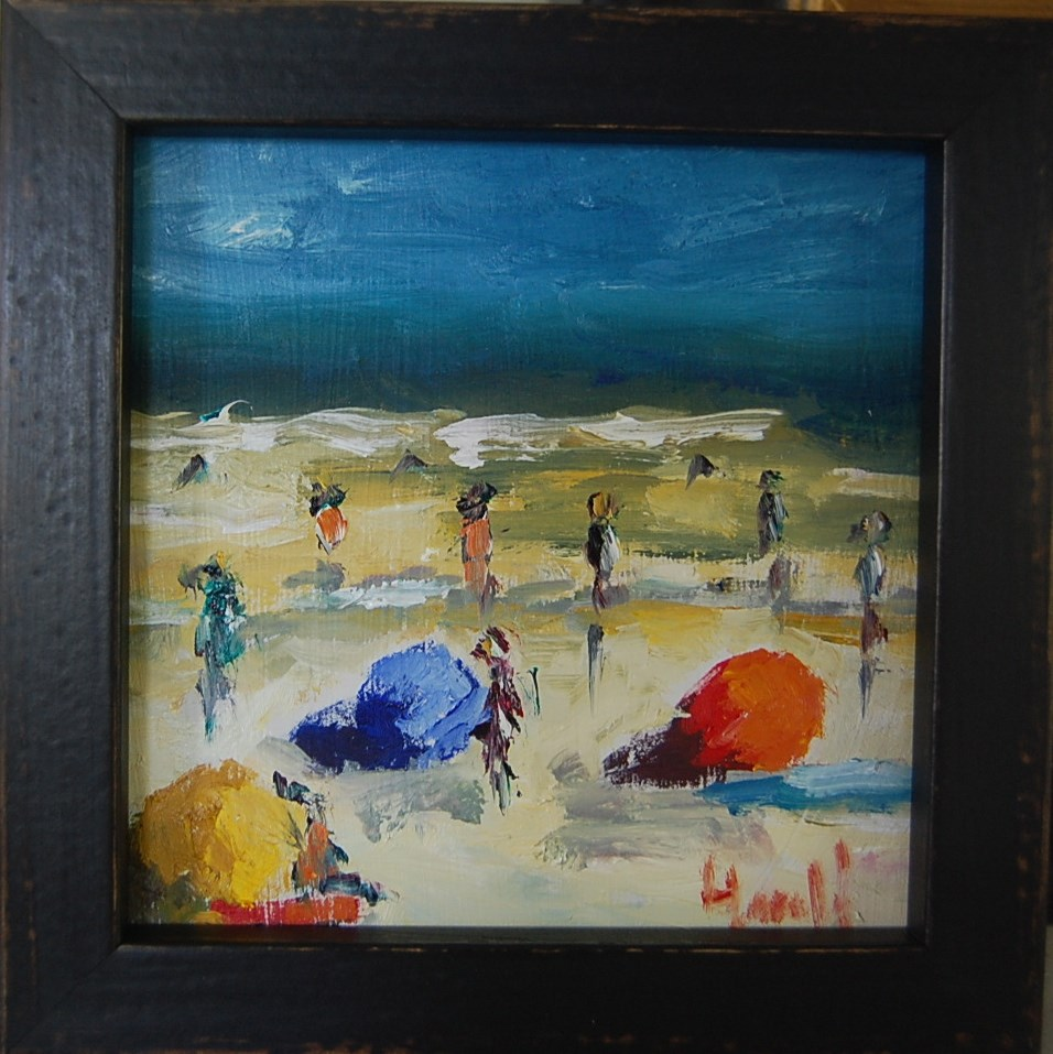 """Beach Day 2"" original fine art by Deborah Harold"