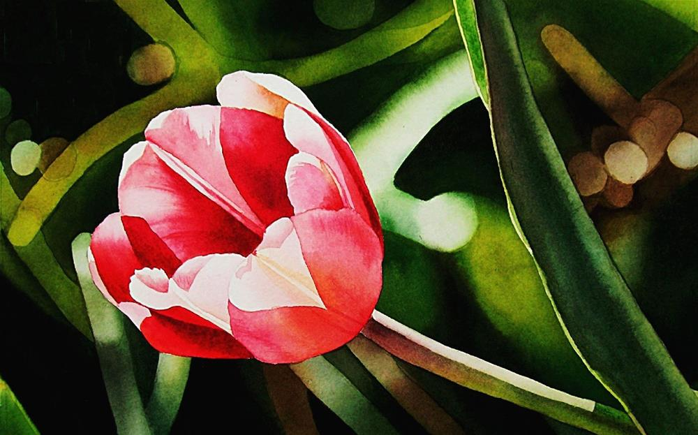 """Visions of Spring...Tulip"" original fine art by Jacqueline Gnott, TWSA, WHS"