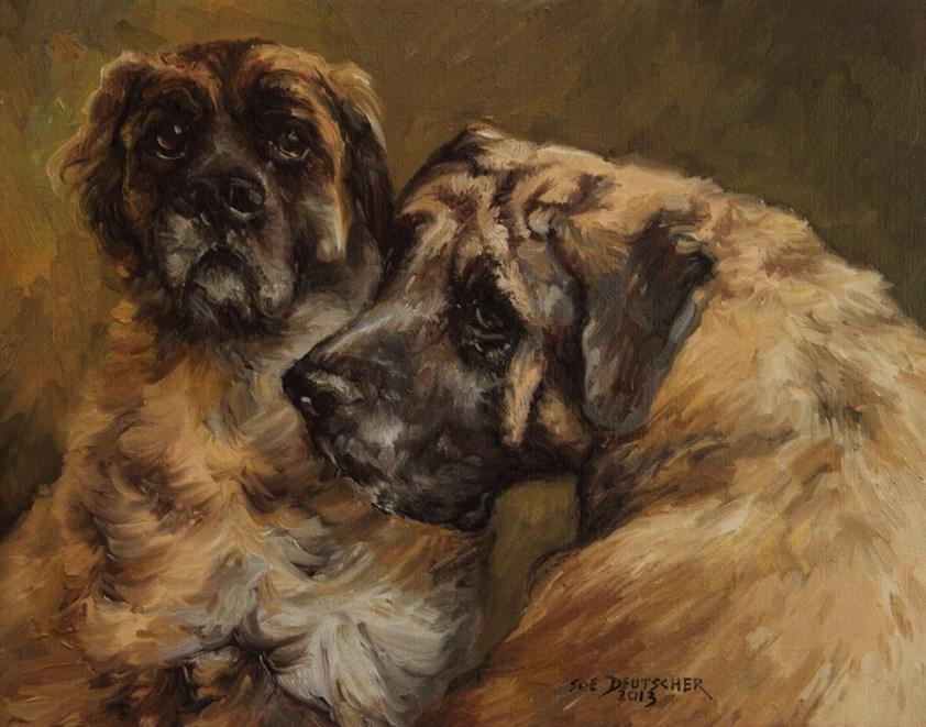"""""""Bull Mastiffs"""" original fine art by Sue Deutscher"""
