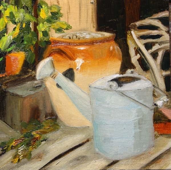 """Formby Deck 2"" original fine art by Jane Frederick"