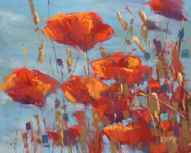 """""""Would You Like to Paint Poppies?"""" original fine art by Karen Margulis"""