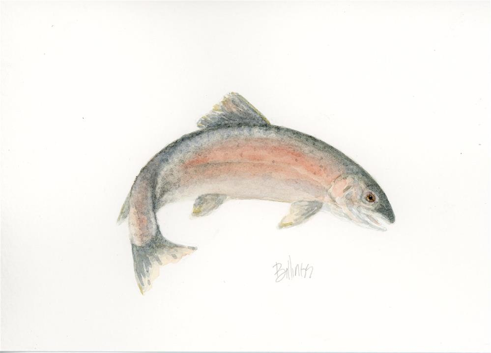 """When In Doubt Trout I"" original fine art by Susanne Billings"