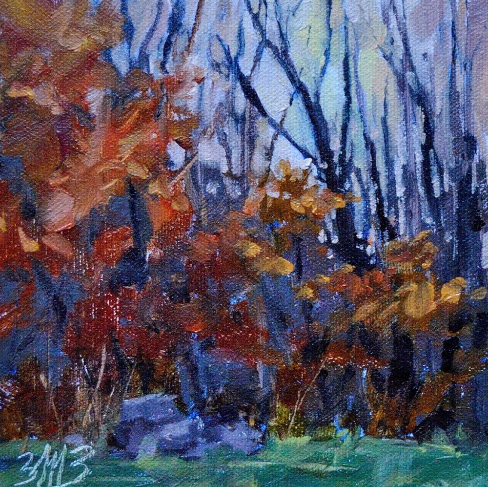 """""""Autumn Twilight"""" original fine art by Brienne M Brown"""