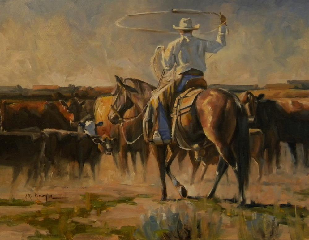 """A Day At The Office (Sold)"" original fine art by Rick Kennington"