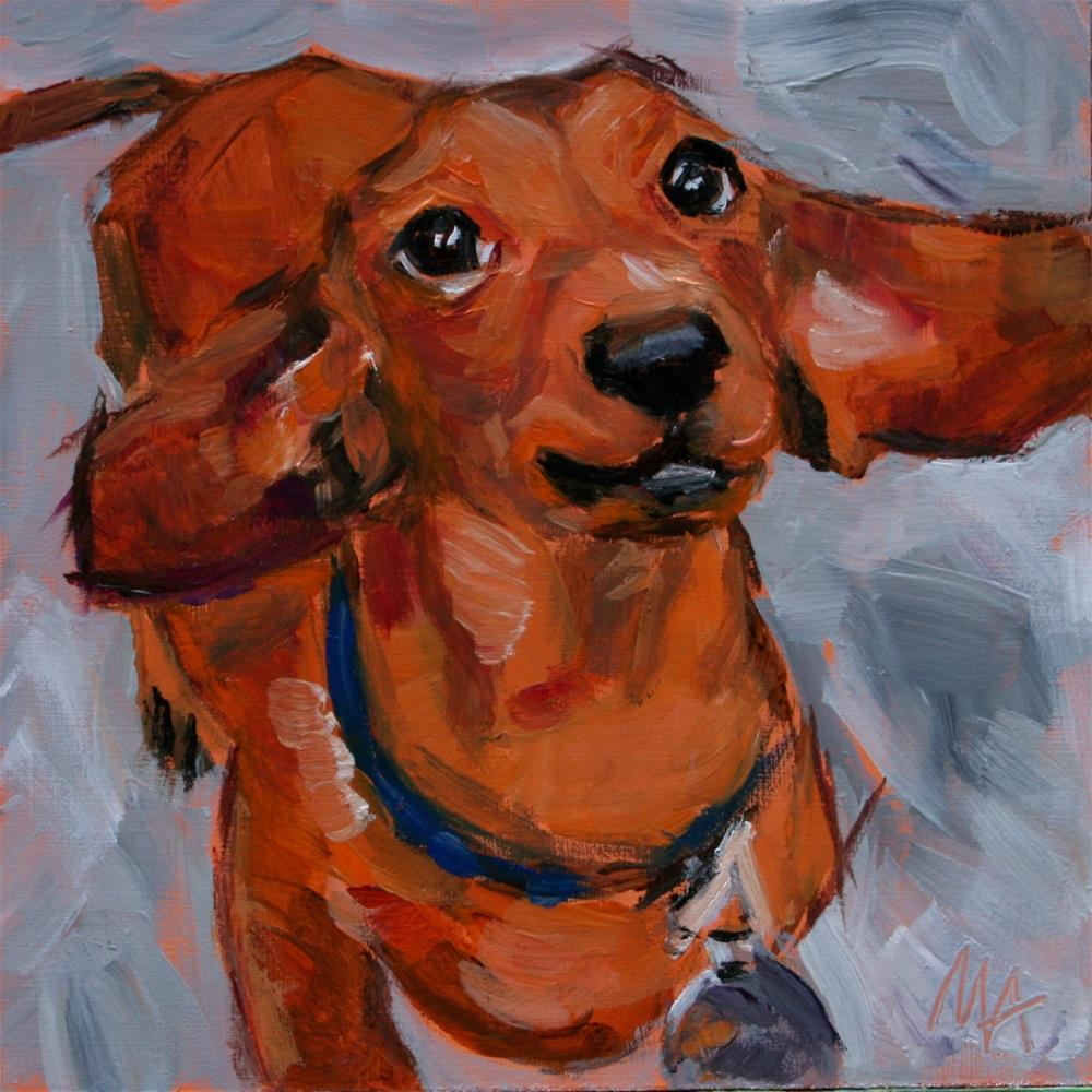"""Hugo"" original fine art by Aniko Makay"