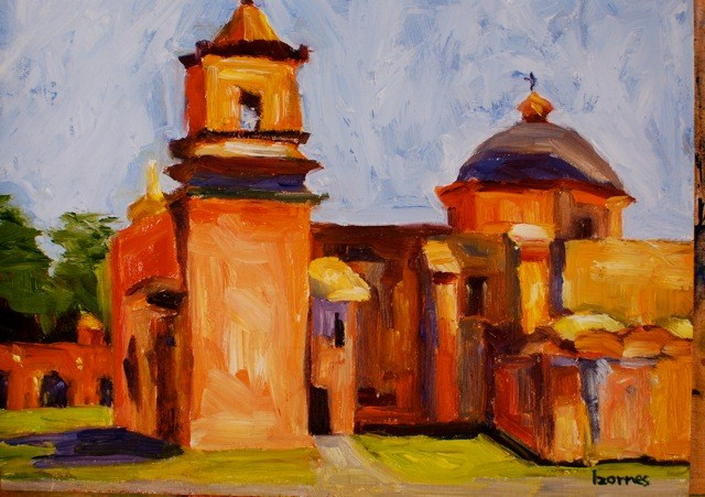 """Mission San Jose"" original fine art by Liz Zornes"