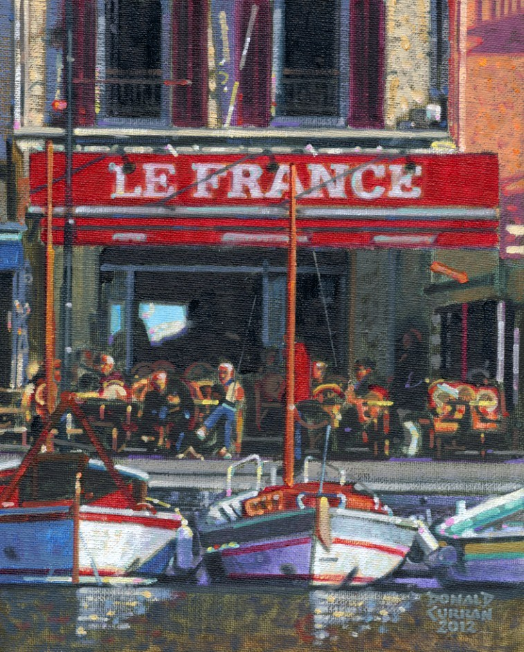 """French Cafe"" original fine art by Donald Curran"