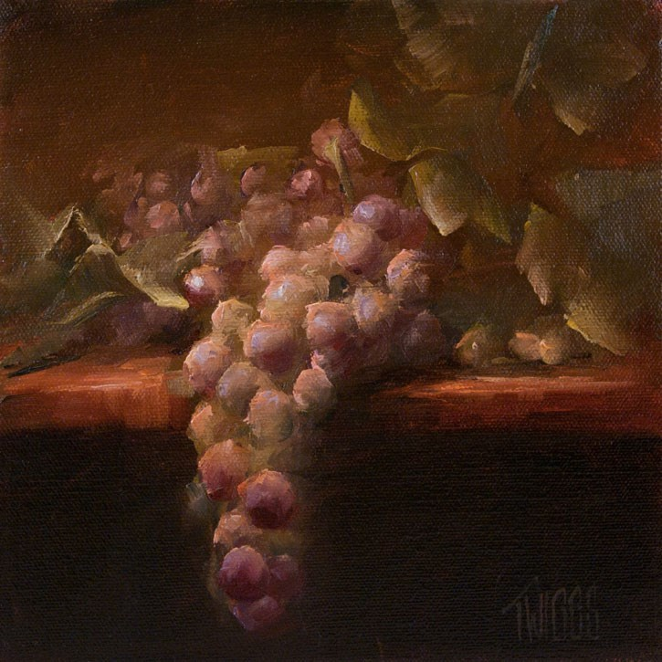 """Grape Study 1"" original fine art by Lori Twiggs"
