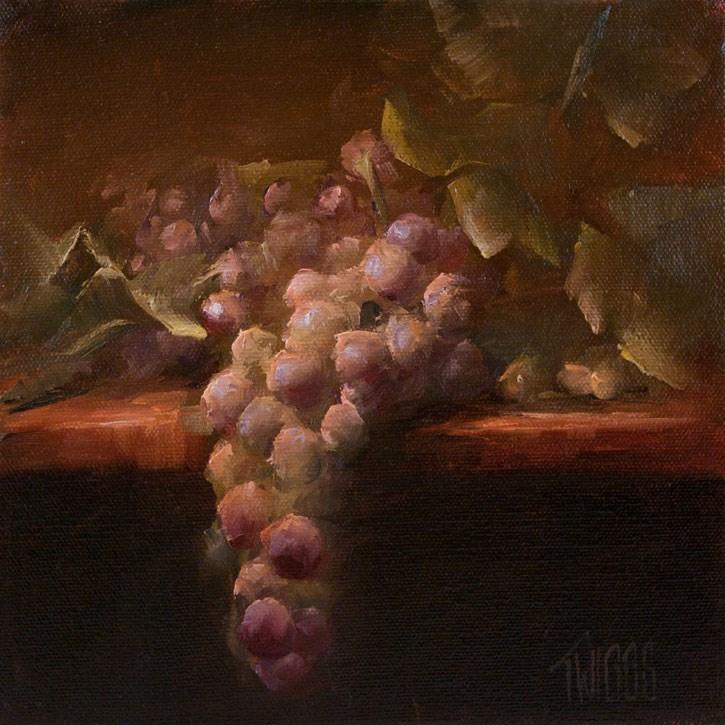 """Grape Study 1"" original fine art by Lori Twiggs"