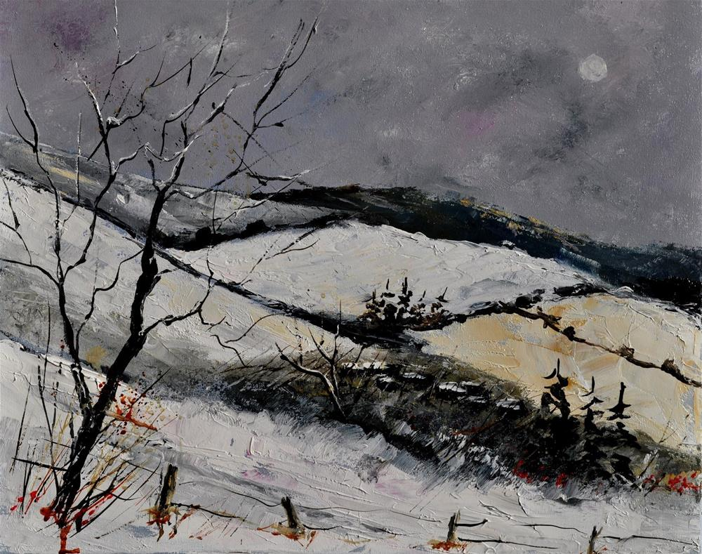 """winter 3101"" original fine art by Pol Ledent"