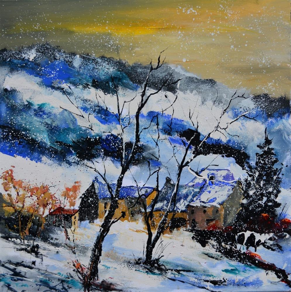 """winter 7751"" original fine art by Pol Ledent"