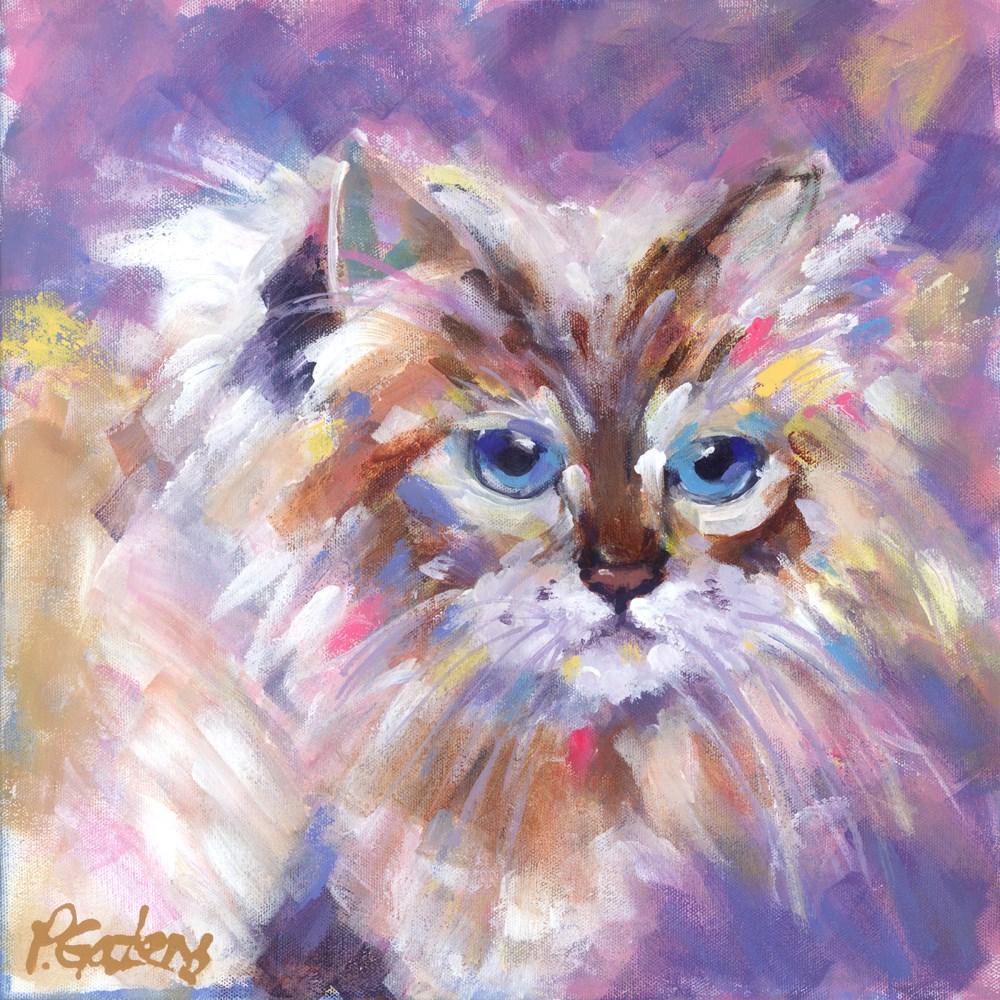 """Bright Eyed Birman"" original fine art by Pamela Gatens"