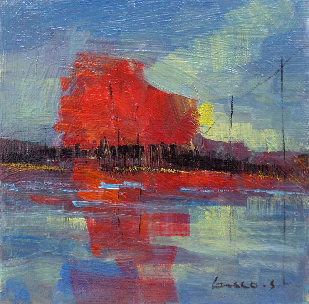 """Reflection in the pond"" original fine art by salvatore greco"