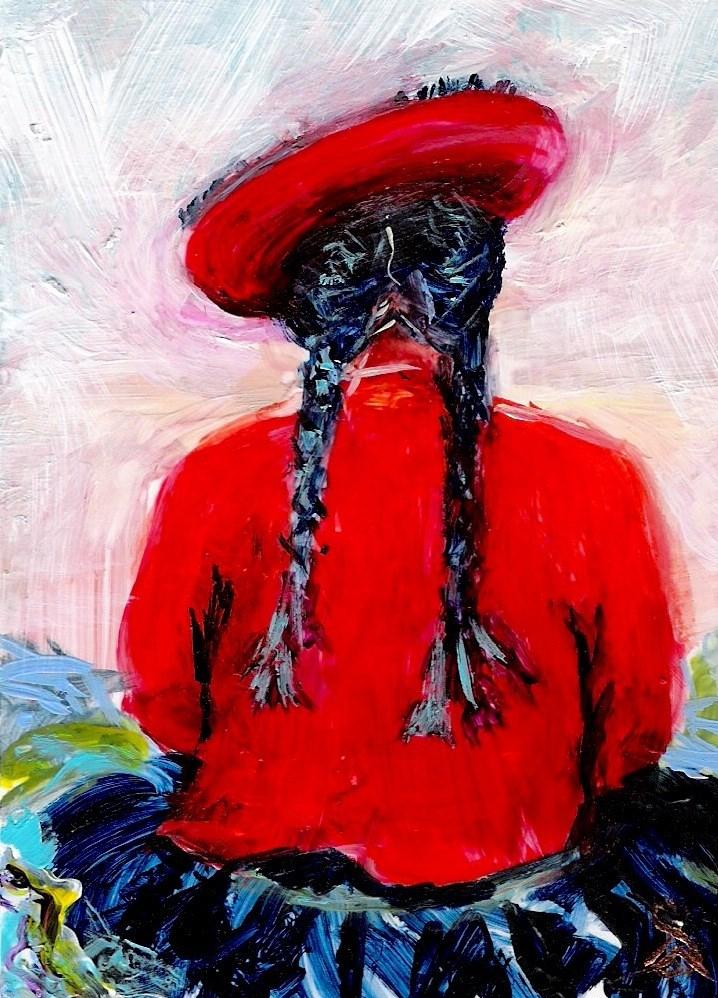 """3197 - Matted - ARTIZAN ACEO"" original fine art by Sea Dean"