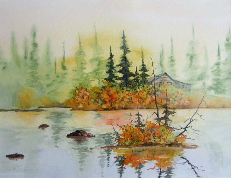 """""""By the River"""" original fine art by Horst Berlow"""