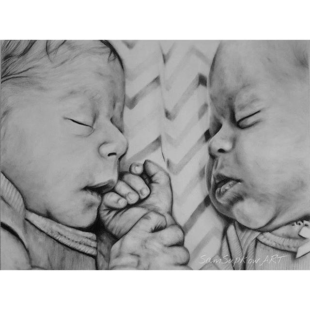 """Twins"" original fine art by Sam Supkow"