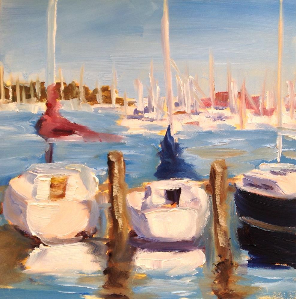 """Safe Harbor"" original fine art by Debra Kennedy"