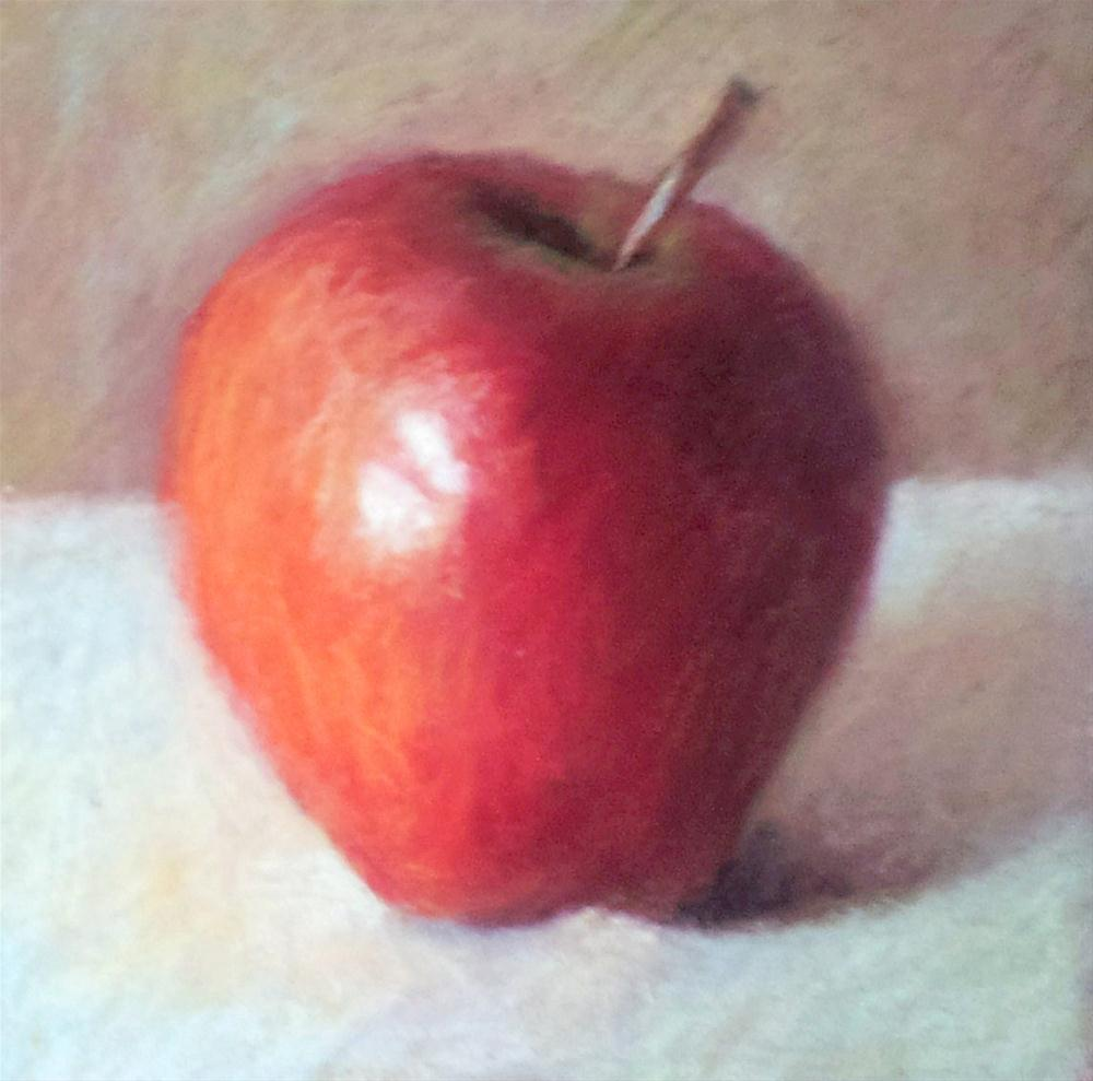 """Apple-Ate-Cha"" original fine art by Cindy Haase"
