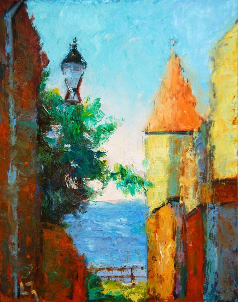 """""""Ocean View, St. Andrew's"""" original fine art by Liz Zornes"""
