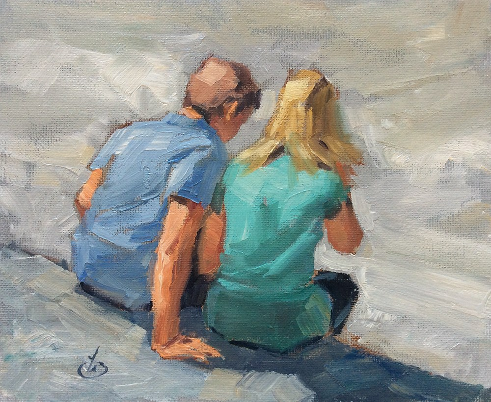 """""""SHARING A MOMENT"""" original fine art by Tom Brown"""