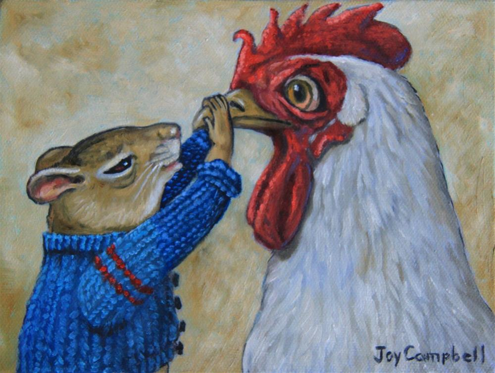 """Chicken Whisperer"" original fine art by Joy Campbell"