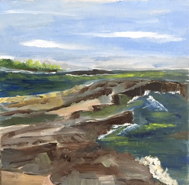 """On the Rocks"" original fine art by Sheila Clark Lundy"