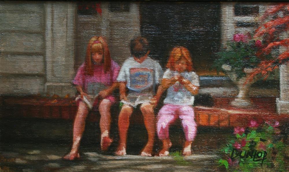 """""""Trio"""" original fine art by Bobbi Dunlop"""