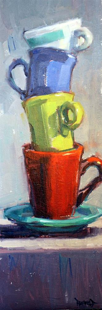"""Another Stack"" original fine art by Cathleen Rehfeld"