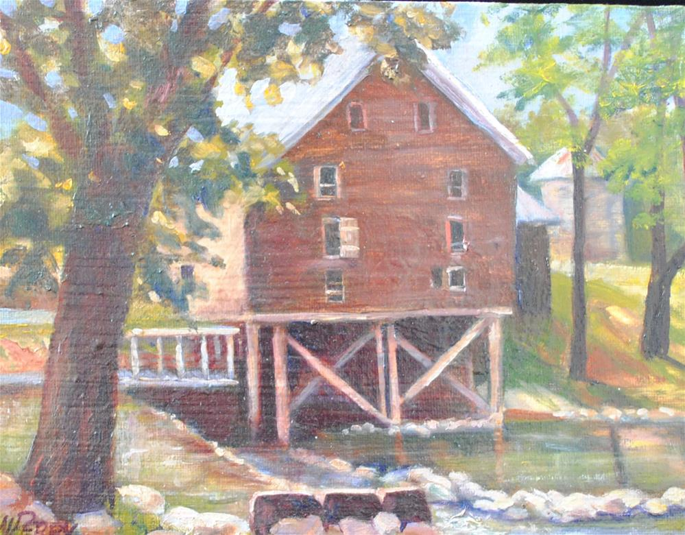 """Kymulga Grist Mill"" original fine art by Nan Perry"