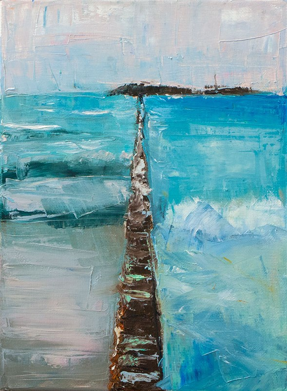 """""""Landscape Challenge #12"""" original fine art by Clair Hartmann"""