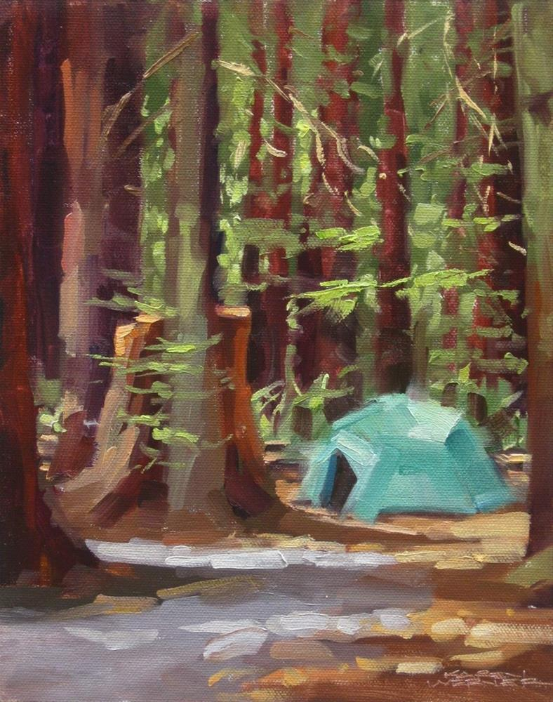 """Camping Among Giants"" original fine art by Karen Werner"