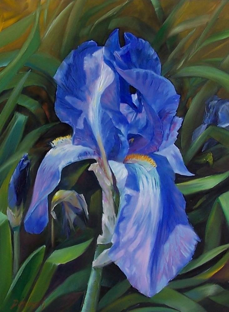 """""""Blue Iris"""" original fine art by Donna Munsch"""