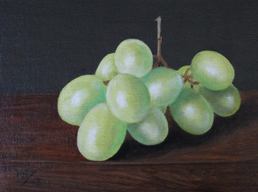 """White Grapes"" original fine art by Pera Schillings"