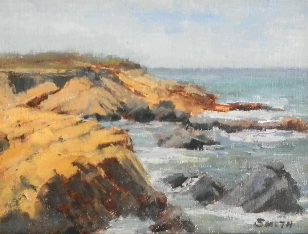 """Moonstone Beach, Cambria"" original fine art by Barbie Smith"