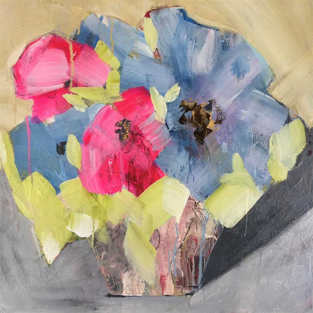 """Blue and Pink"" original fine art by Jenny Doh"