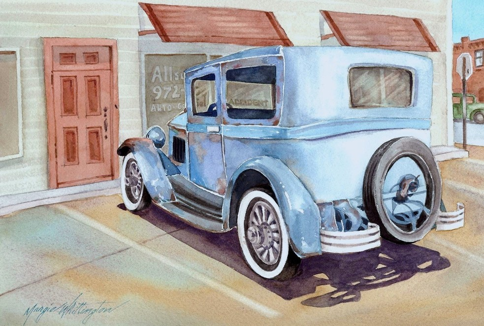 Model A Ford original fine art by Margie Whittington