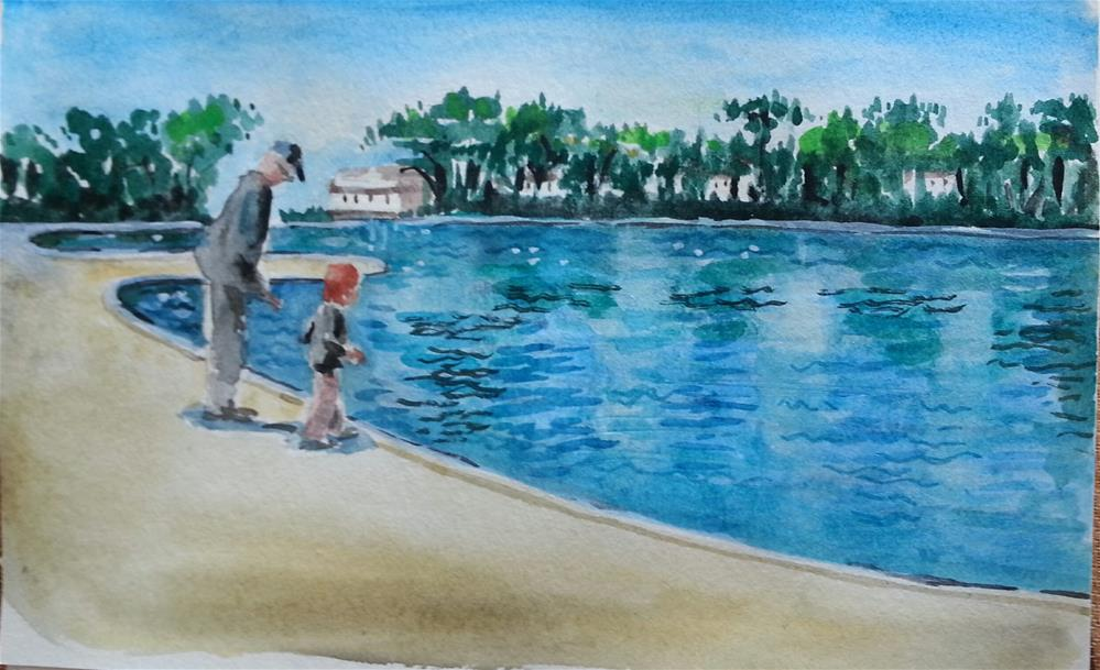 """Outing With Grandpa"" original fine art by Geri Graley"