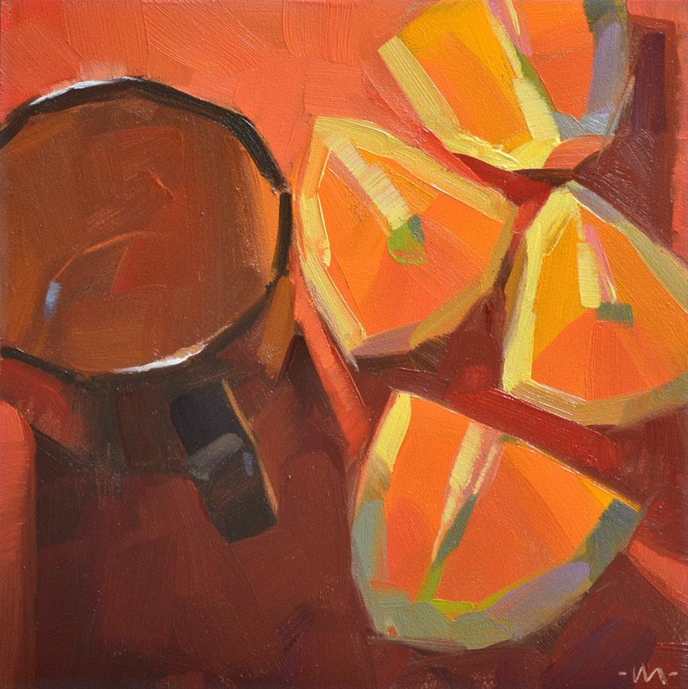 """Colorful Slices"" original fine art by Carol Marine"