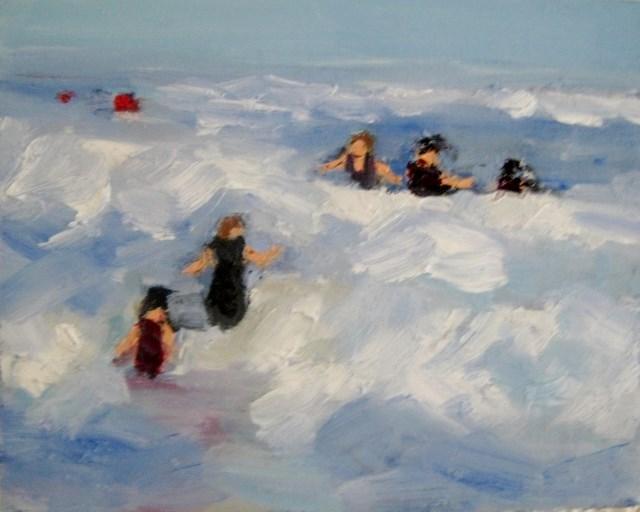 """Beach time summer time"" original fine art by Astrid Buchhammer"