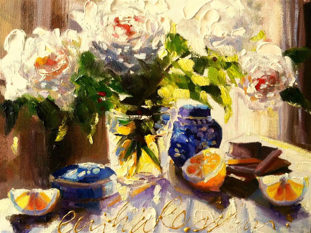 """SUURLEMOEN DAGBREEK"" original fine art by Cecilia Rosslee"