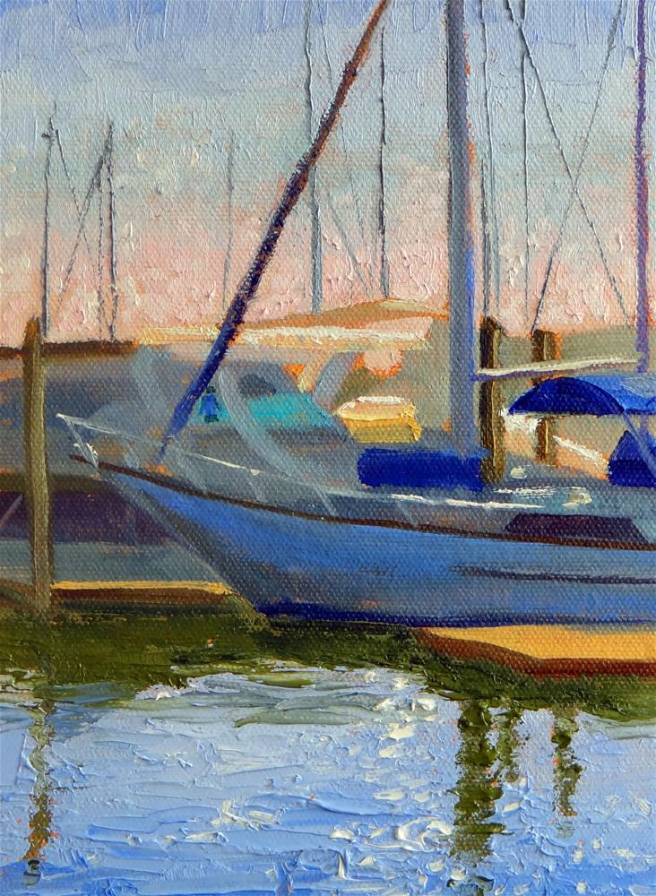 """At the Kemah Marina"" original fine art by Nancy Paris Pruden"
