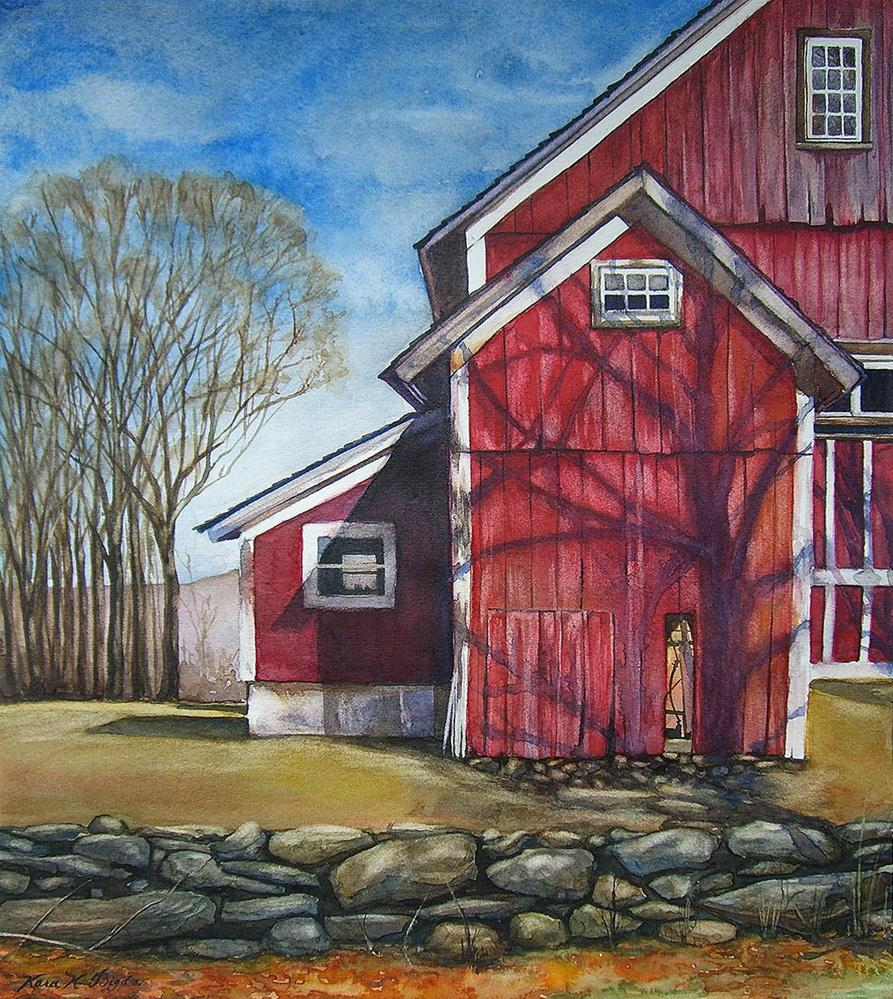 """Frohloff's Barns"" original fine art by Kara K. Bigda"