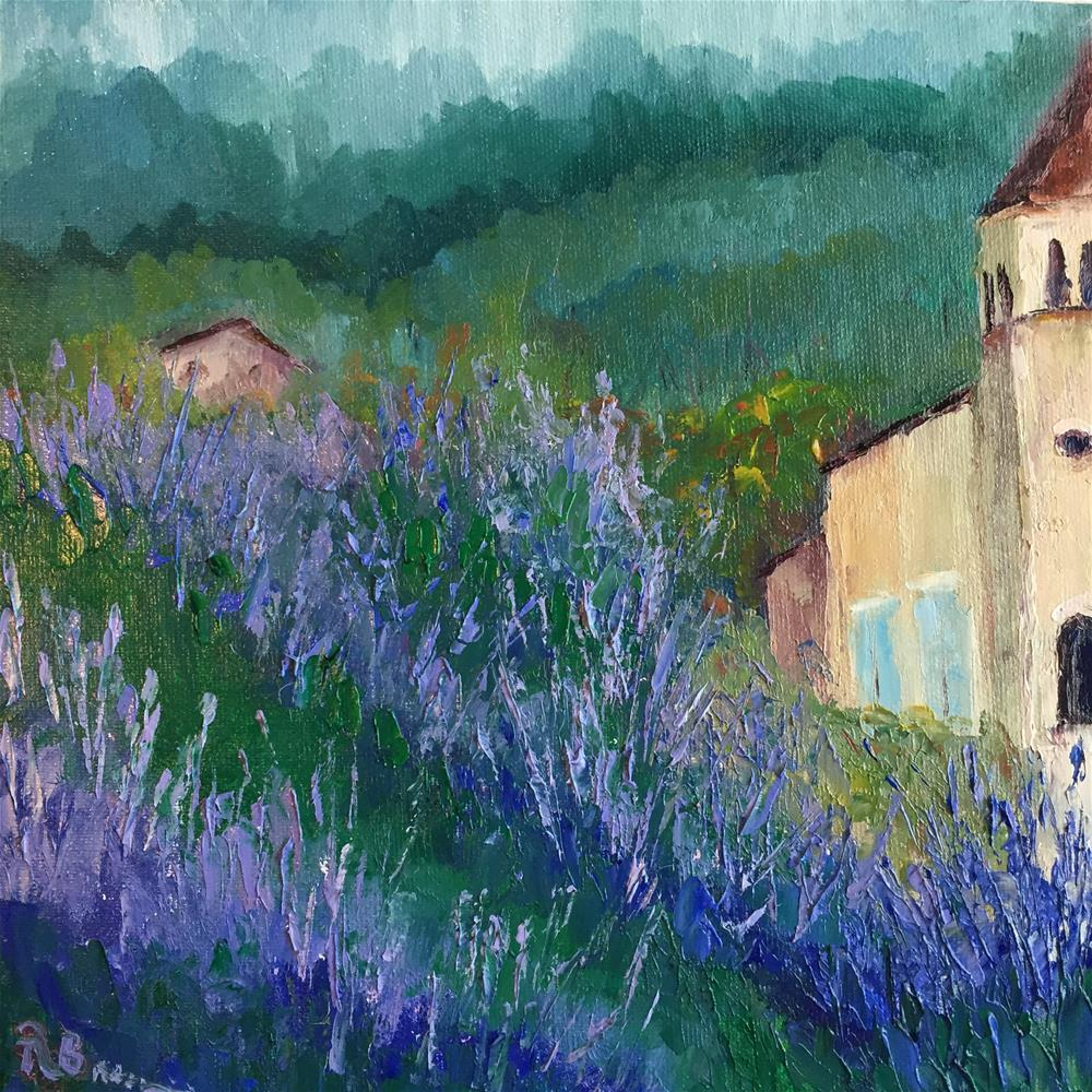 """The Lavender Fields"" original fine art by Rose Brenner"